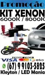 Kit Xenon 6000k e 8000k. Pronta entrega, consulte-nos!!!