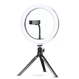 Iluminador de LED Ring Light 10 Polegadas com Tripé de Mesa