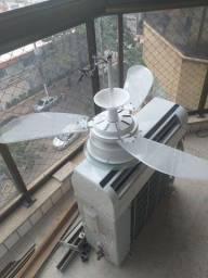 Ventilador de teto e ar-condicionado