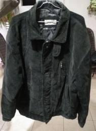 Jaqueta 100% couro masculina cor preta tamanho - G