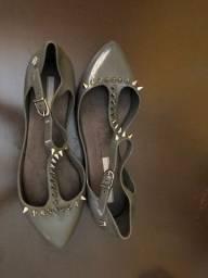 Melissa sapatilha estizada cinza