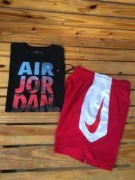 Kit Nike bermuda DRIFIT e camisa