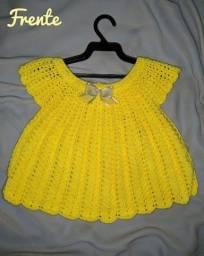 Vestido infantil de crochê