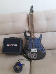 Guitarra nova+ amplificador