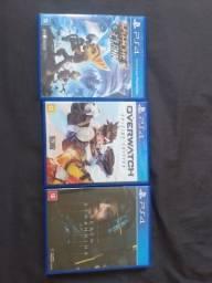 3 jogos de Playstation 4 mídia física