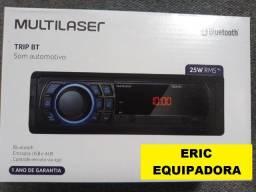 Rádio Multilaser Bluetooth Mp3 USB, Fm  Entrada Pen drive- 1 Ano Garantia  - Instalado