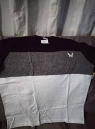 Camisa de malha algodão tamanhos M e G