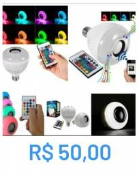 Lâmpada Bluetooth com alto falante LED colorido