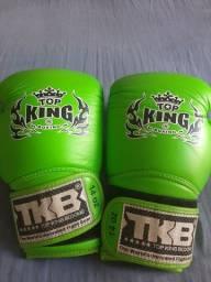 Luva boxe top King couro importada