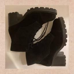 bota de camurça tamanho 36