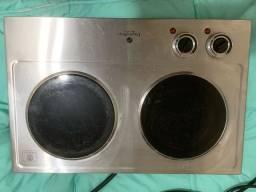 Fogao 2 bocas eletrobras top line premium cook inox 2 ebvc-02 110v