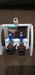 Lampadas H11 azul Multilaser 5000k