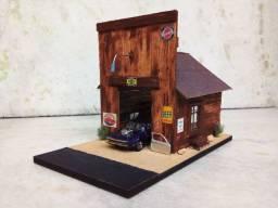 Diorama e miniatura hotwheels!