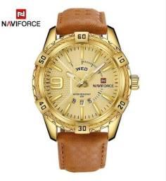 Dia dos pais, Relógio Naviforce Gold casual