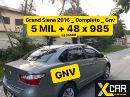 Grand Siena 1.4   - 2016 + *GNV **  _ Pouco Rodado _ Completo