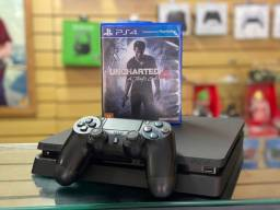 PS4 slim 500gb + 1 Jogo - Loja física - Cartões 12x