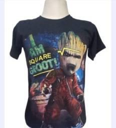 Combo 2 camisetas arte frente verso heróis da galáxia DJ mascarado fio 30.1