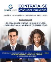 vaga de telemarketing/consultor financeiro