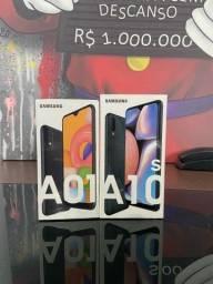 Samsung A01 e A10s lacrado