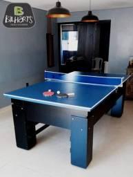 Mesa de bilhar com tampo para ping pong