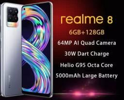 Smartphone Realme 8 6/128 novo aceito trocas com volta