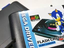 Fita Cartucho Everdrive Mega Drive + Cartão Sd com 1000 Jogos