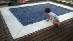Redinha de proteção tela instalada em janelas sacadas piscinas proteja as crianças
