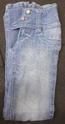 Calça jeans feminina tamanho 38, cintura baixa,  elástico na parte de trás.