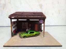 Diorama tire shop e miniatura hotwheels!