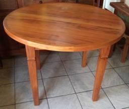 mesa redonda em madeira de demolição com ou sem tinta