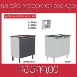 Balcão de cooktop 2 cores
