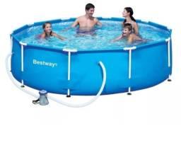 Vendo piscina 4678 litros nova com capa e filtro