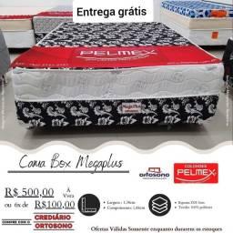 CAma box casal de espuma pelmex - entrega grátis no mesmo dia do pedido