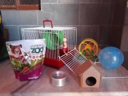 Kit Hamster Completo - Gaiola, brinquedos e mais!