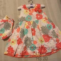 Vestido importado floral e Vestido poá Guess rosa com branco