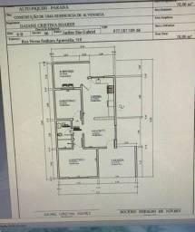 Casa 78 m2, não é financiada