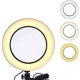 Iluminador Ring Light 26 cm com Tripé + suporte central ??