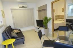 Apartamento 1/4 no Cond. Spazio du Parque 100 % Mobiliado - Santa Marta