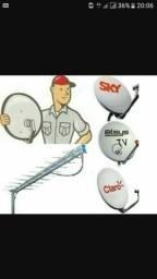 Instalador de antenas satélite e digital