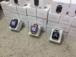 Smart watch com Bluetooth e entrada para chip e cartão sd , com câmera