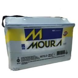 Bateria Moura Original 75ah Nova Primeira Linha Promoção 18 Meses Garantia