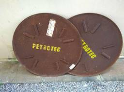 Dois discos de flotação