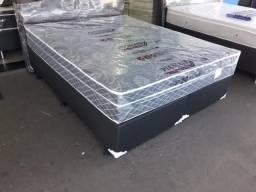 ::: Conjunto Cama Box Colchao Sonata Queen Size 158x198 Melhor Preço Confira