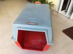 Caixa de transporte de fibra para cachorro de porte grande