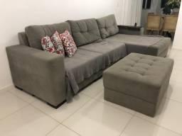 Sofá 3 lugares com chaise - Decore