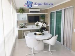 Apartamento mobiliado de alto padrão no Porto das Dunas com 3 suítes
