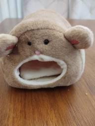 Toca, Toquinha ou cama de pelúcia para hamster
