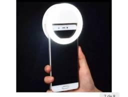 Clipe Anel Led Luz Branca Selfie para celular - Mini Ring Light PRETO<br><br>