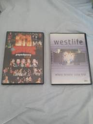 DVDs nsync  e westlife