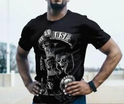 Camiseta Guns N' Roses Rock Band Masculina